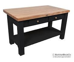 butcher block kitchen island with 8