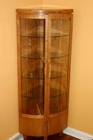 Corner Curio Cabinet Kit Handmade Corner Curio Cabinet By Whim Wood Custom Furniture