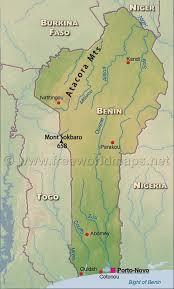 nigeria physical map benin physical map