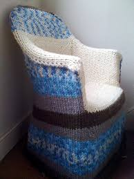 Saucer Chair Cover Furniture Knitting Patterns In The Loop Knitting