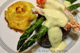 Romantic Dinner At Home by A Feast For The Eyes Surf U0026 Turf Steak Oscar With Duchess