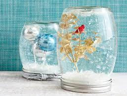 jar crafts snow globes with tiny ornaments