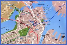 boston tourist map boston map tourist attractions map travel vacations