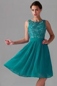 haut habill pour mariage robe de cocktail verte haut en dentelle guipure col rond courte