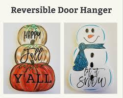 reversible pumpkin u0026 snowman wooden cutout 50 3 hour event