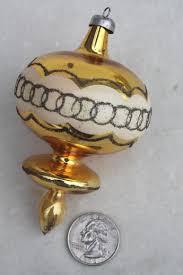 vintage tree ornaments lot glass balls metal