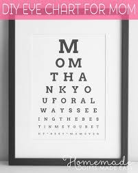 personalized mothers day gifts diy eye chart personalized mothers day gift
