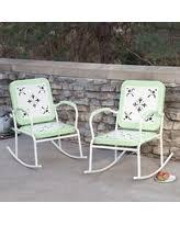 Metal Rocking Patio Chairs Boom Sales On Retro Metal Patio Chairs