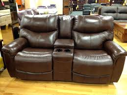 loveseat recliner leather with console cover cheap