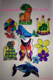 Kids Stained Glass Craft - easy stained