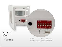 how to adjust motion sensor light switch mi light wall mount wireless pir sensor switch rf wifi led bulb with