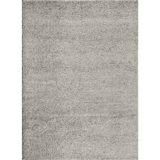gray shag rug modern living room design with white sectional