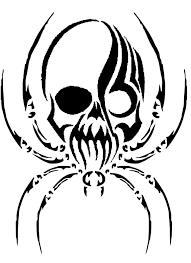 simple spider web drawing spider skull design idea