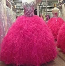 fuchsia quinceanera dresses fuchsia pink gown quinceanera dress sweetheart beading prom