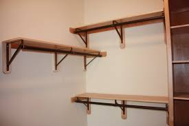 simple wooden closet rod bracket installations u2014 steveb interior