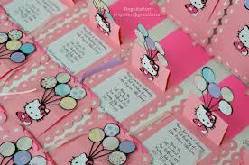 Personalized Invitation Card For Birthday Hello Kitty Slide Up Slider Card Balloon Birthday Invitations
