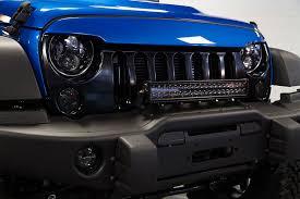 jeep wrangler custom lights custom jeep wrangler hydro blue wild boar aggressive hawkeye grille