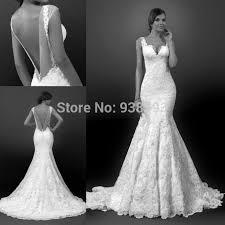 low back wedding dresses vintage style mermaid lace low back wedding dresses
