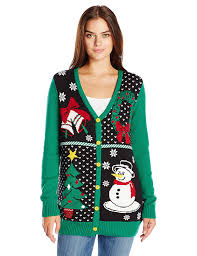 ugly christmas sweater women u0027s button front christmas cardigan