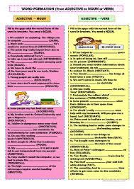 156 free esl word formation worksheets