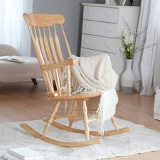 White Wooden Rocking Chair For Nursery Bed Bath Wood Rocking Chair With White Wool Area Rug