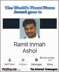 Name Memes - funny ramit inmah ashol name award pmslweb