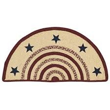 Rug With Stars Potomac Braided Half Circle Rug With Stars By Vhc Brands The