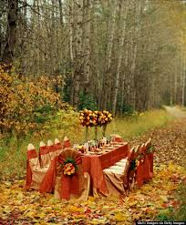 al fresco thanksgiving tables will make you wish for warmer weather
