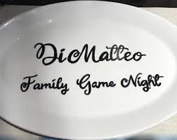 personalized serving platter ceramic ceramic platter etsy