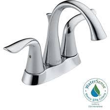 delta lahara 4 in centerset 2 handle bathroom faucet in venetian