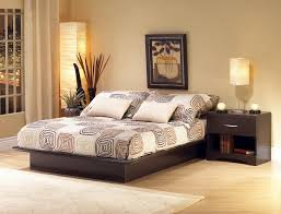 Floating Beds by Excotic Relaxing Bedroom Design With Dark Wood Floating Beds And