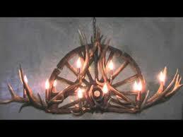 Mason Jar Wagon Wheel Chandelier Wagon Wheel Chandelier Youtube