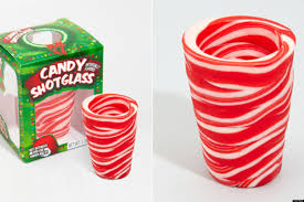 candy cane shot glasses might be the hit of your holiday party