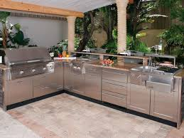 outdoor kitchen kits with nature decor idea minimalist home plans