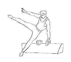 amazing balance beam gymnastic coloring amazing balance beam