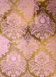 pink and grey pattern wallpaper fruits of design damask wallpaper little crown interiors