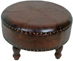 large round leather ottoman circular leather ottoman coffee table with storage ottomans round