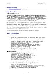 Sap Program Manager Resume Delivery Manager Resume Resume For Your Job Application