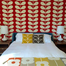 Midcentury Modern Wallpaper - impressive modern wallpaper remodeling ideas with teal bed frame