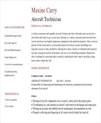 Sample Maintenance Technician Resume by Sample Maintenance Technician Resume 9 Examples In Word Pdf