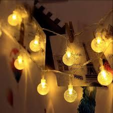 aa battery light bulb aa battery operated fairy light 2m 20led warm white crystal ball led