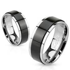 karikagyuru rak 8 mm fekete csíkos nemesacél karikagyűrű