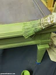 How To Paint A Table Green With Decor How To Paint A Table With A Lot Of Trim Detail