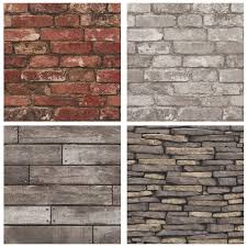 fine decor rustic brick effect wallpapers feature wall decor