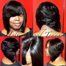 weave for inverted bob black women inverted bob hairstyles with side bangs and highlight