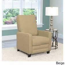 Modern Recliner Chair Reclining Armchairs Living Room Linen Fabric Modern Recliner