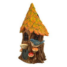 solar fairy tree house autumn