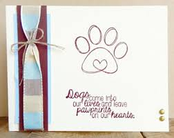 condolences for loss of pet card for dog etsy