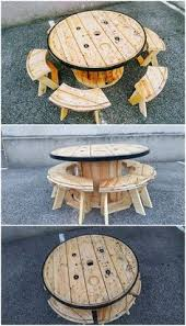 15 Unique Pallet Picnic Table 101 Pallets by Recycled Pallet Cable Reel Patio Furniture Cable Reel Pallets