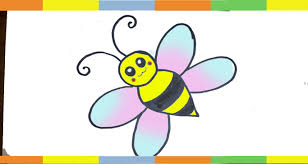 how to draw a bee for kids stap by step easy hunny bee drawing